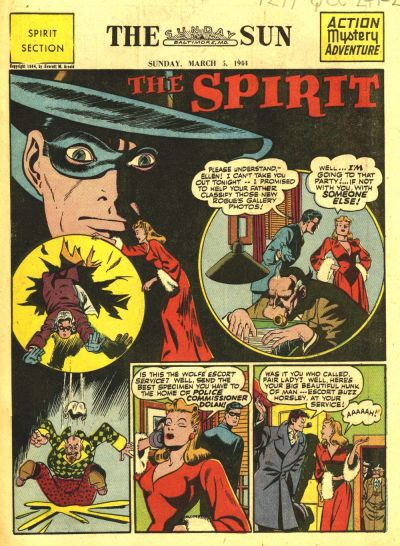 Cover for The Spirit (Register and Tribune Syndicate, 1940 series) #3/5/1944