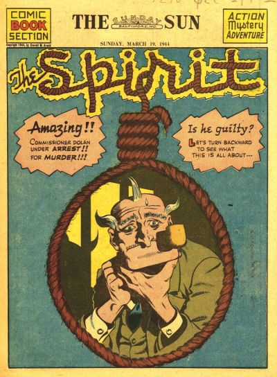 Cover for The Spirit (Register and Tribune Syndicate, 1940 series) #3/19/1944