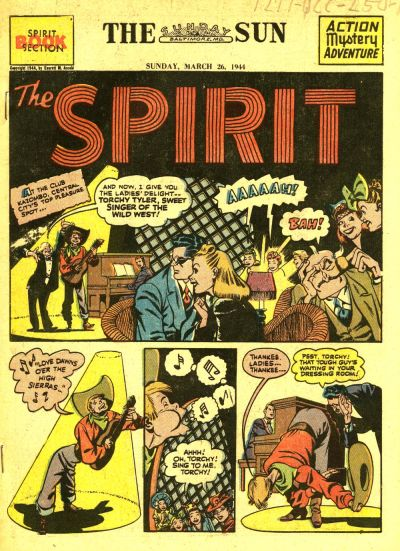 Cover for The Spirit (Register and Tribune Syndicate, 1940 series) #3/26/1944