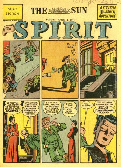 Cover for The Spirit (Register and Tribune Syndicate, 1940 series) #4/2/1944