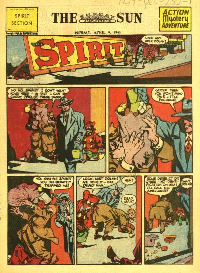 Cover for The Spirit (Register and Tribune Syndicate, 1940 series) #4/9/1944