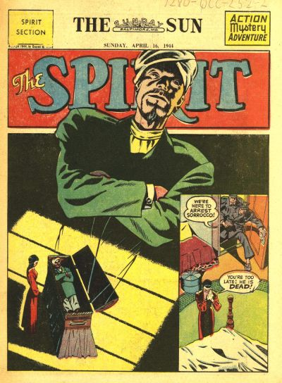 Cover for The Spirit (Register and Tribune Syndicate, 1940 series) #4/16/1944