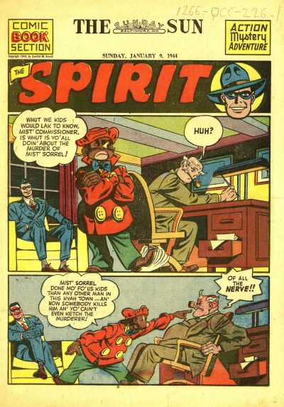 Cover for The Spirit (Register and Tribune Syndicate, 1940 series) #1/9/1944