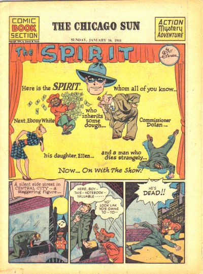 Cover for The Spirit (Register and Tribune Syndicate, 1940 series) #1/16/1944