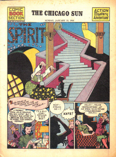 Cover for The Spirit (Register and Tribune Syndicate, 1940 series) #1/23/1944