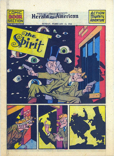 Cover for The Spirit (Register and Tribune Syndicate, 1940 series) #2/13/1944