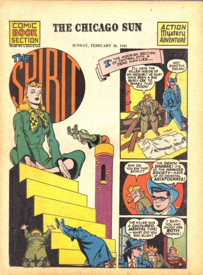Cover for The Spirit (Register and Tribune Syndicate, 1940 series) #2/20/1944