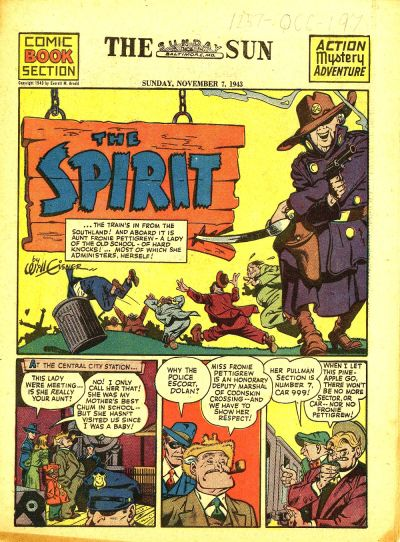 Cover for The Spirit (Register and Tribune Syndicate, 1940 series) #11/7/1943
