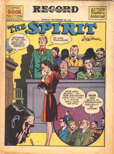 Cover for The Spirit (Register and Tribune Syndicate, 1940 series) #11/28/1943