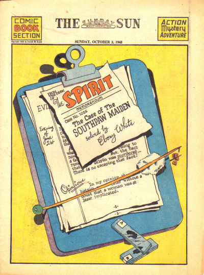 Cover for The Spirit (Register and Tribune Syndicate, 1940 series) #10/3/1943