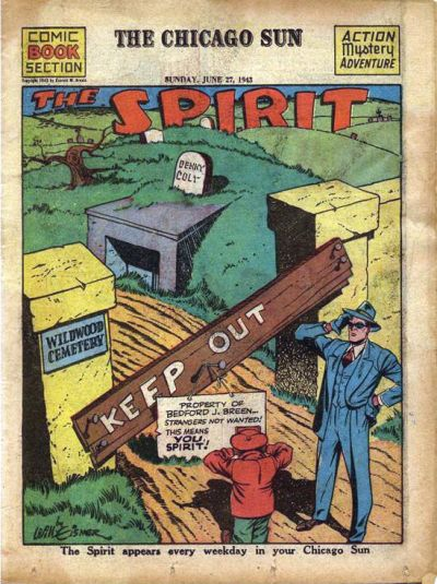 Cover for The Spirit (Register and Tribune Syndicate, 1940 series) #6/27/1943