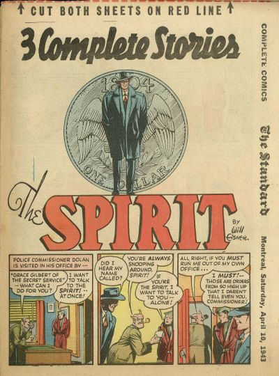 Cover for The Spirit (Register and Tribune Syndicate, 1940 series) #4/11/1943