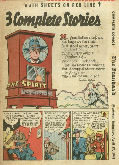Cover for The Spirit (Register and Tribune Syndicate, 1940 series) #4/18/1943