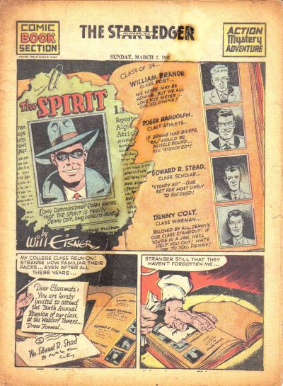 Cover for The Spirit (Register and Tribune Syndicate, 1940 series) #3/7/1943
