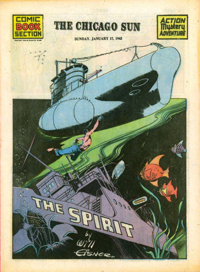 Cover for The Spirit (Register and Tribune Syndicate, 1940 series) #1/17/1943