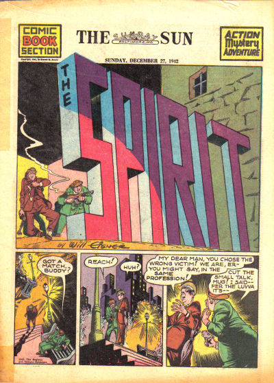 Cover for The Spirit (Register and Tribune Syndicate, 1940 series) #12/27/1942