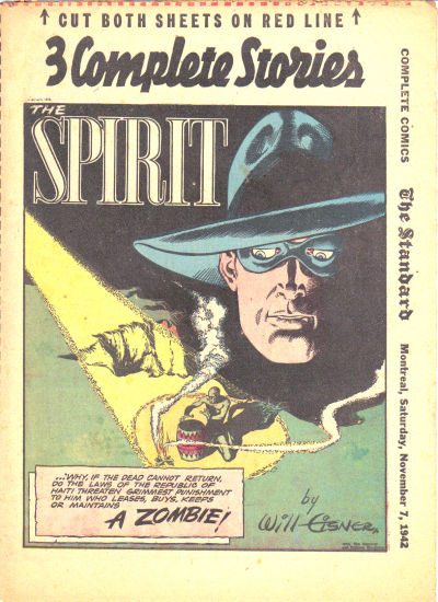 Cover for The Spirit (Register and Tribune Syndicate, 1940 series) #11/8/1942