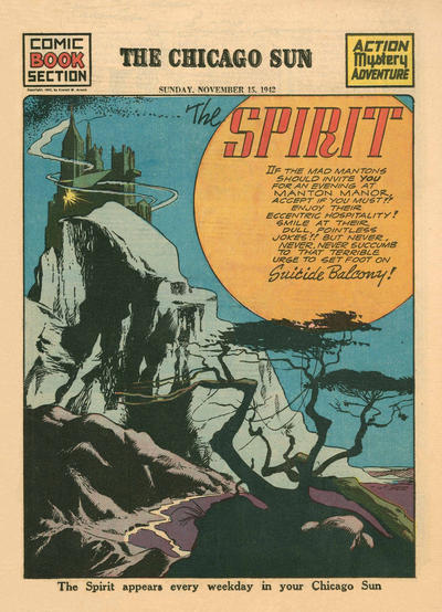 Cover for The Spirit (Register and Tribune Syndicate, 1940 series) #11/15/1942
