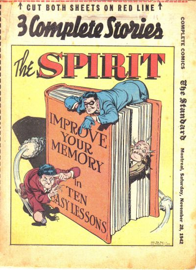 Cover for The Spirit (Register and Tribune Syndicate, 1940 series) #11/29/1942