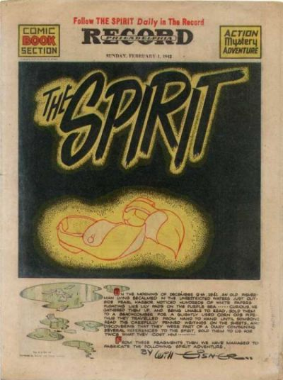 Cover for The Spirit (Register and Tribune Syndicate, 1940 series) #2/1/1942