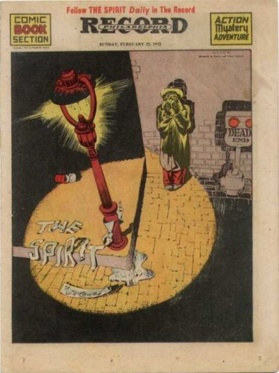 Cover for The Spirit (Register and Tribune Syndicate, 1940 series) #2/22/1942
