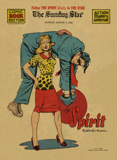 Cover for The Spirit (Register and Tribune Syndicate, 1940 series) #3/1/1942
