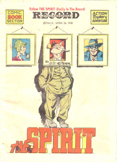 Cover for The Spirit (Register and Tribune Syndicate, 1940 series) #4/26/1942