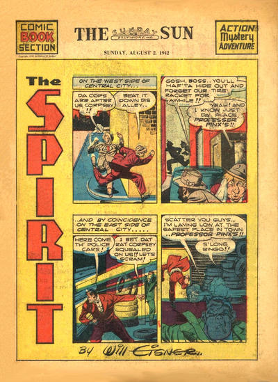 Cover for The Spirit (Register and Tribune Syndicate, 1940 series) #8/2/1942