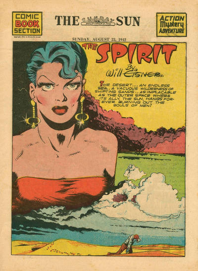 Cover for The Spirit (Register and Tribune Syndicate, 1940 series) #8/23/1942