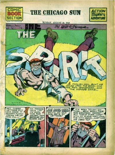 Cover for The Spirit (Register and Tribune Syndicate, 1940 series) #8/30/1942