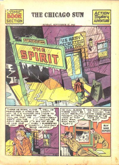 Cover for The Spirit (Register and Tribune Syndicate, 1940 series) #9/27/1942