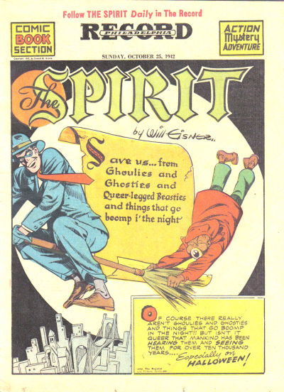 Cover for The Spirit (Register and Tribune Syndicate, 1940 series) #10/25/1942