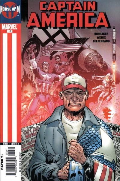 Cover for Captain America (Marvel, 2005 series) #10