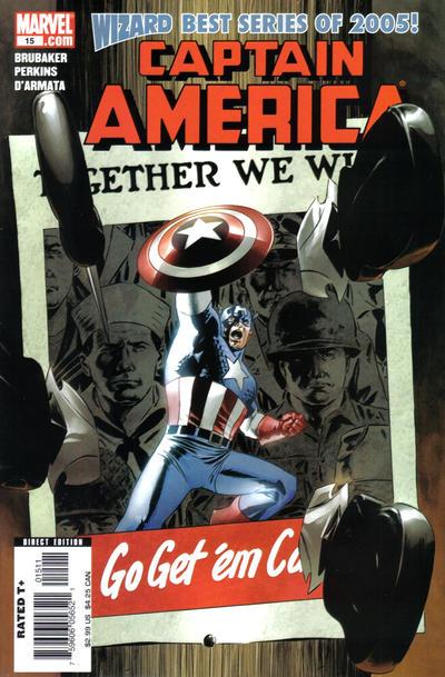 Cover for Captain America (Marvel, 2005 series) #15