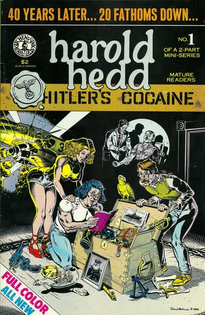 "Cover for Harold Hedd in ""Hitler's Cocaine"" (Kitchen Sink Press, 1984 series) #1"