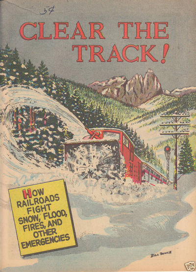 Cover for Clear the Track! (Association of American Railroads; School and College Service, 1956 series) #[nn]