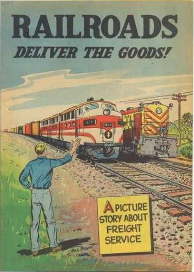 Cover for Railroads Deliver the Goods! (Association of American Railroads, 1954 series)