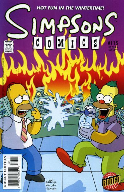 Cover for Simpsons Comics (Bongo, 1993 series) #115