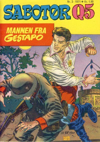 Cover for Sabotør Q5 (Serieforlaget / Se-Bladene / Stabenfeldt, 1971 series) #3/1971