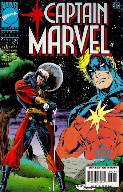 Cover for Captain Marvel (Marvel, 1995 series) #2