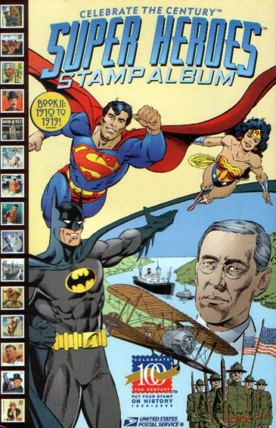 Cover for Celebrate the Century [Super Heroes Stamp Album] (DC / United States Postal Service, 1998 series) #2