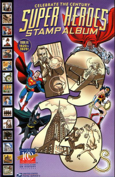 Cover for Celebrate the Century [Super Heroes Stamp Album] (DC / United States Postal Service, 1998 series) #3