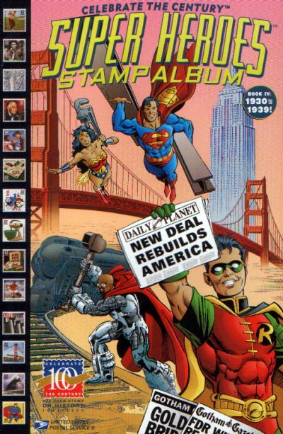 Cover for Celebrate the Century [Super Heroes Stamp Album] (DC / United States Postal Service, 1998 series) #4