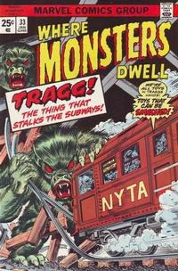 Cover Thumbnail for Where Monsters Dwell (Marvel, 1970 series) #33