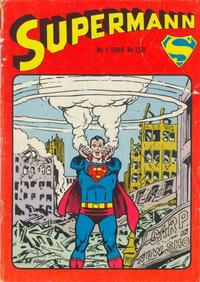 Cover for Supermann (Serieforlaget / Se-Bladene / Stabenfeldt, 1966 series) #1/1966