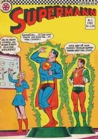 Cover Thumbnail for Supermann (Serieforlaget / Se-Bladene / Stabenfeldt, 1966 series) #1/1967