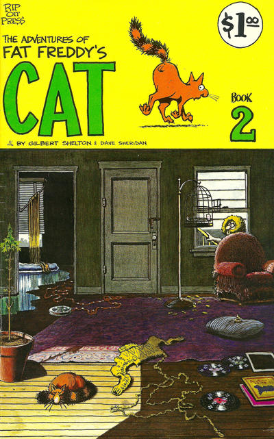 Cover for Fat Freddy's Cat (Rip Off Press, 1977 series) #2 [1st-4th print 0.75 USD]