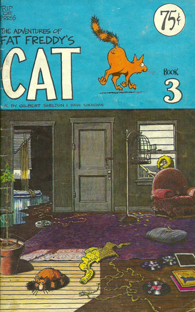 Cover for Fat Freddy's Cat (Rip Off Press, 1977 series) #3 [1st print 0.75 USD]