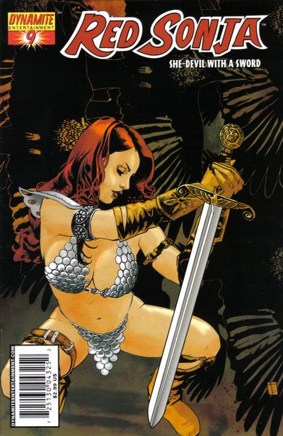 Cover for Red Sonja (Dynamite Entertainment, 2005 series) #9 [Mike Perkins Cover]