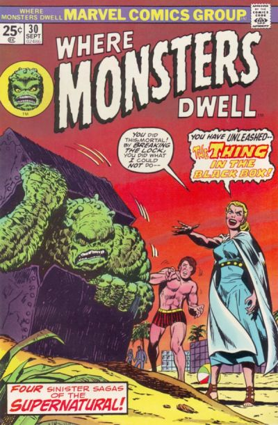Cover for Where Monsters Dwell (Marvel, 1970 series) #30